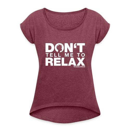 KL NEW EDITION - Frauen T-Shirt mit gerollten Ärmeln