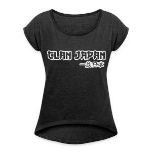 Clan Female Top - Women's T-shirt with rolled up sleeves