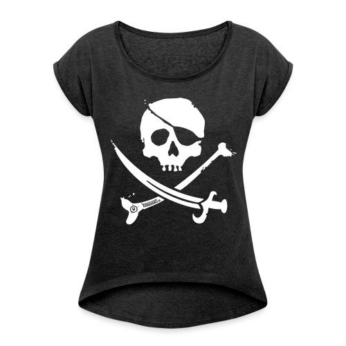 Pirate Crew - Women's Shirt (White print) - Vrouwen T-shirt met opgerolde mouwen