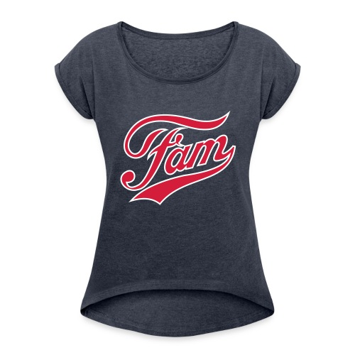 Fam Ladies Vintage T Shirt - Women's T-Shirt with rolled up sleeves