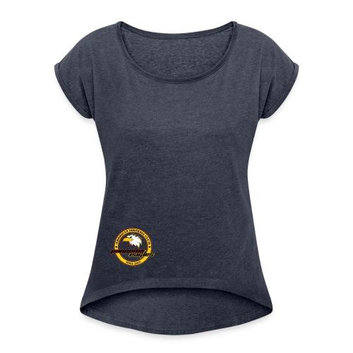 T-Shirt Ladies - Frauen T-Shirt mit gerollten Ärmeln