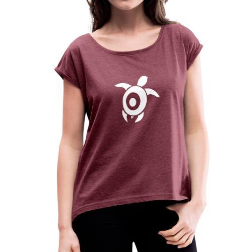 Wasserschildi - Frauen T-Shirt mit gerollten Ärmeln
