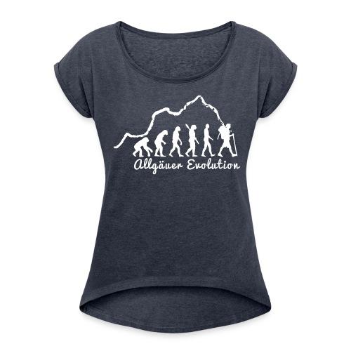 """Frauen T-Shirt """"Allgäuer Evolution"""" - Frauen T-Shirt mit gerollten Ärmeln"""