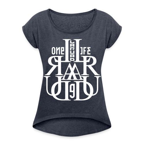 17 - T-shirt à manches retroussées Femme