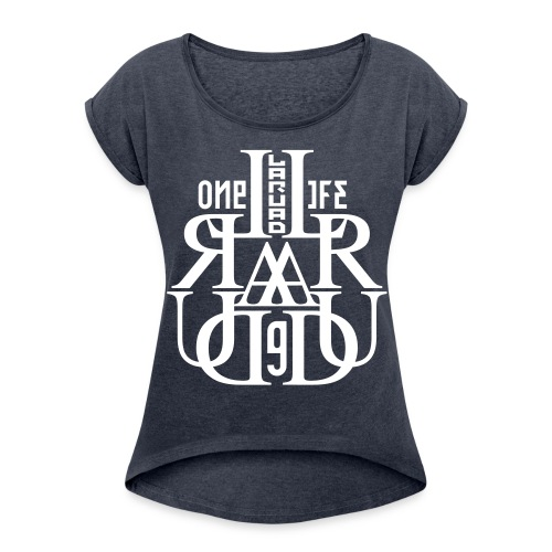 17 - Women's T-shirt with rolled up sleeves