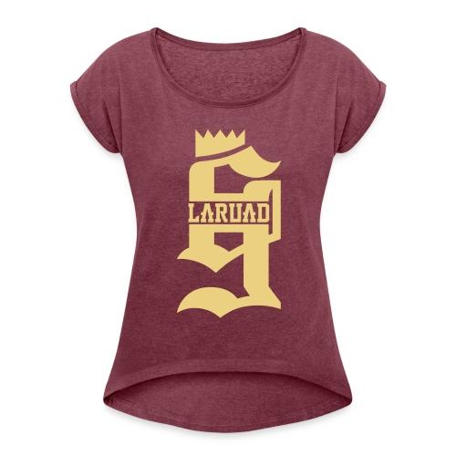 18 - T-shirt à manches retroussées Femme