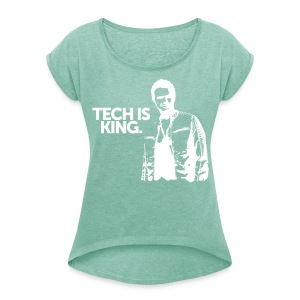 Women TIK Scoop - Women's T-shirt with rolled up sleeves
