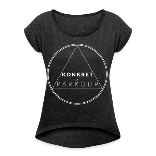 """Geometri"" - Tee - T-shirt med upprullade ärmar dam"