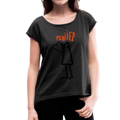 heartpiep - Frauen T-Shirt mit gerollten Ärmeln