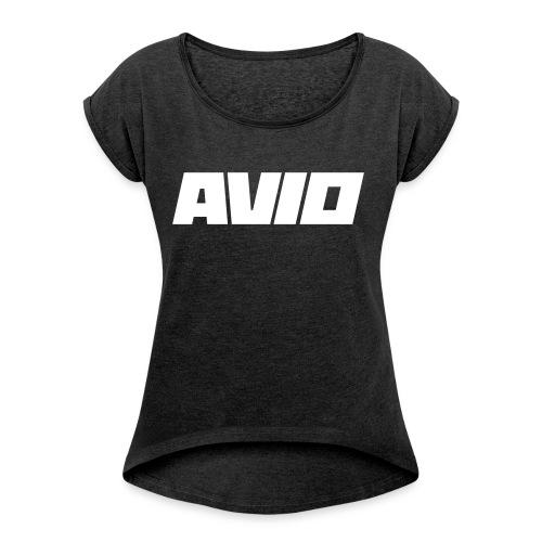 T-Shirt AVIO - Vrouwen T-shirt met opgerolde mouwen