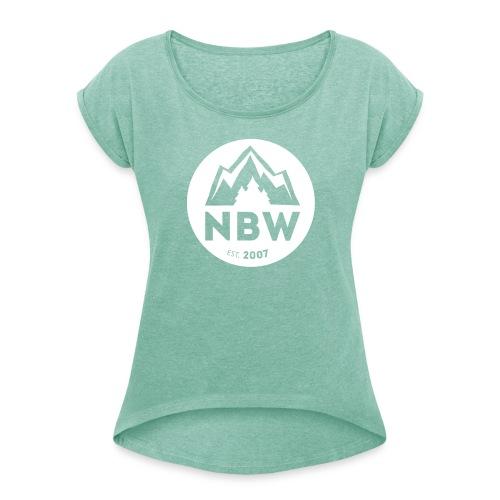 Wäller Höhenrücken - Frauen T-Shirt mit gerollten Ärmeln