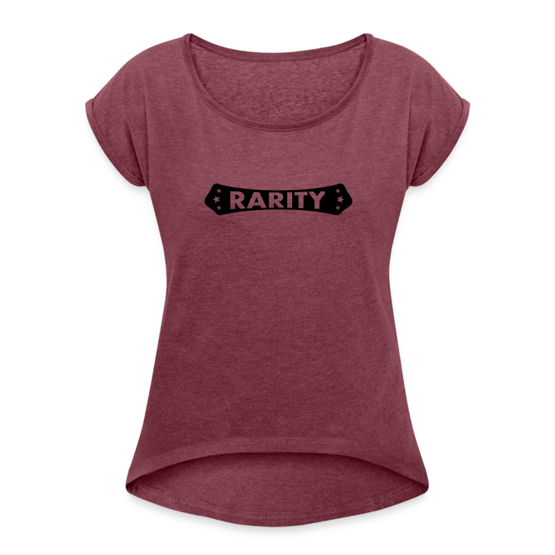 rarity - Frauen T-Shirt mit gerollten Ärmeln