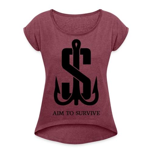 AIM TO SURVIVE - Haken Red - Female - Frauen T-Shirt mit gerollten Ärmeln