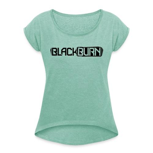 T-Shirt Blackburn - Vrouwen T-shirt met opgerolde mouwen