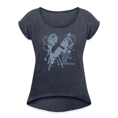 BAWC Hen Harrier Day Women's Rolled Up Sleeve T-Shirt - Women's T-shirt with rolled up sleeves