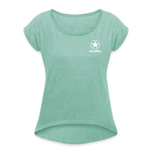 GameStar Girls Boyfriend Shirt - Frauen T-Shirt mit gerollten Ärmeln