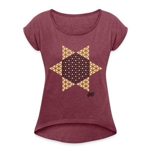GAO - Halma-Mater - Damenshirt Rot - Frauen T-Shirt mit gerollten Ärmeln