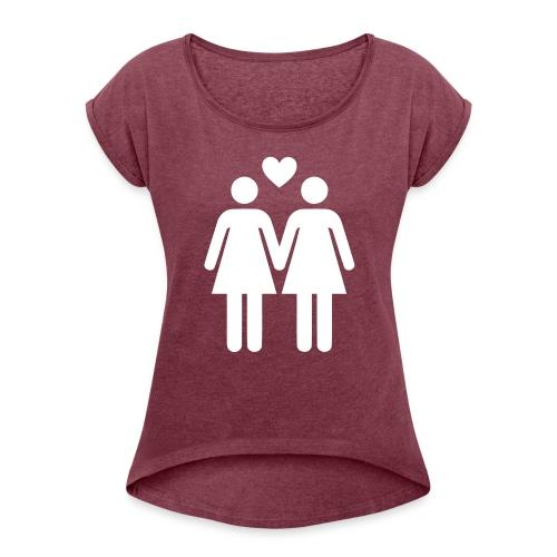 T-SHIRT LOVE WOMEN - T-shirt à manches retroussées Femme