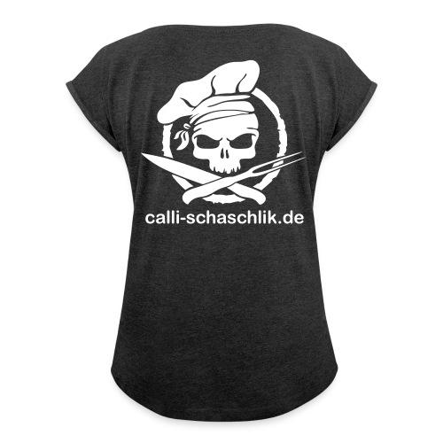 Calli-Pirat glatt - Frauen-Shirt - Frauen T-Shirt mit gerollten Ärmeln
