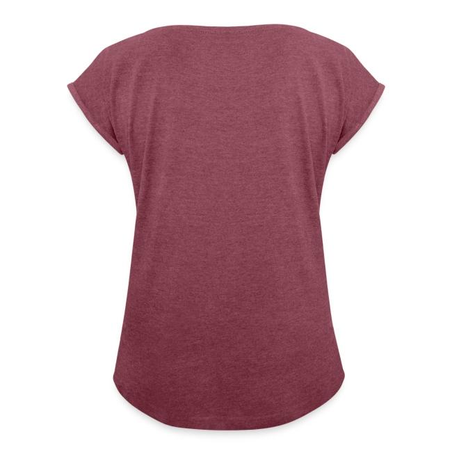 Frauen T-Shirt mit gerollten Ärmeln (Größen: S - L)