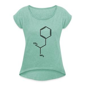 Amphetamine Speed Amfetamine vrouwen - Vrouwen T-shirt met opgerolde mouwen