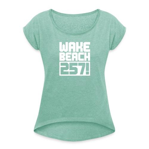 Frauen T-Shirt mit gerollten Ärmeln