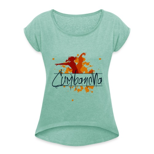 Cumbancha - Frauen T-Shirt mit gerollten Ärmeln
