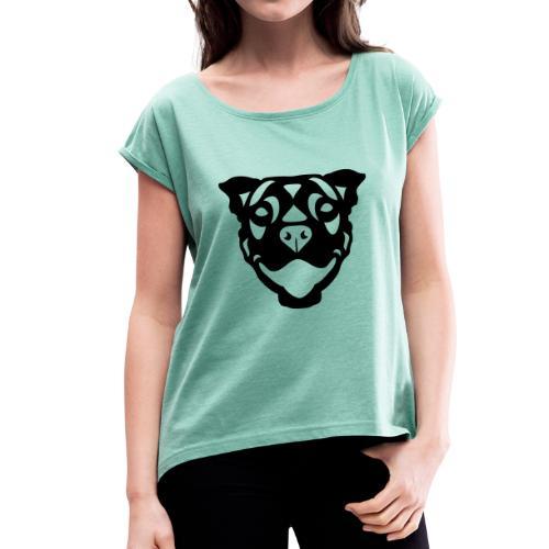 Terrier Terry - Frauen T-Shirt mit gerollten Ärmeln