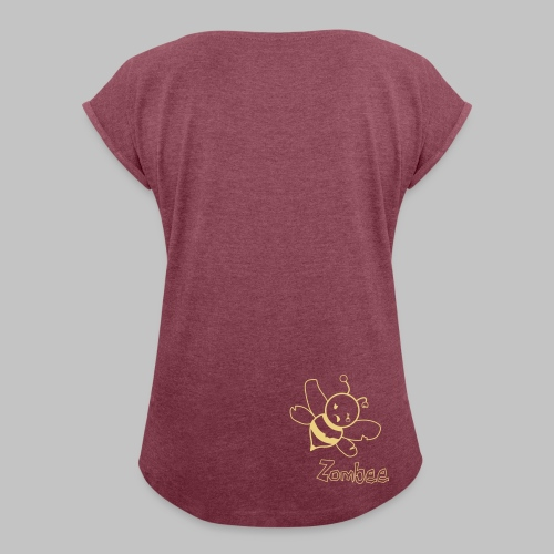 T-shirt femme Zombee - Women's T-shirt with rolled up sleeves