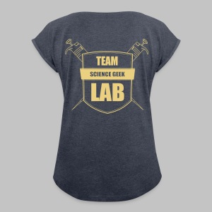 T-shirt femme Team Lab - Women's T-shirt with rolled up sleeves