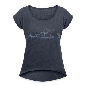 Guggenheim Museum Bilbao - Frauen T-Shirt mit gerollten Ärmeln