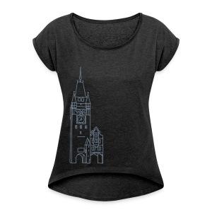 Martinstor Freiburg - Frauen T-Shirt mit gerollten Ärmeln