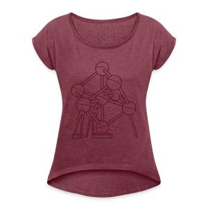 Atomium Brüssel - Frauen T-Shirt mit gerollten Ärmeln