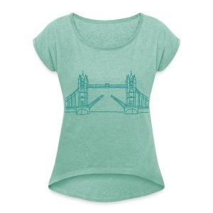 London Tower Bridge - Frauen T-Shirt mit gerollten Ärmeln