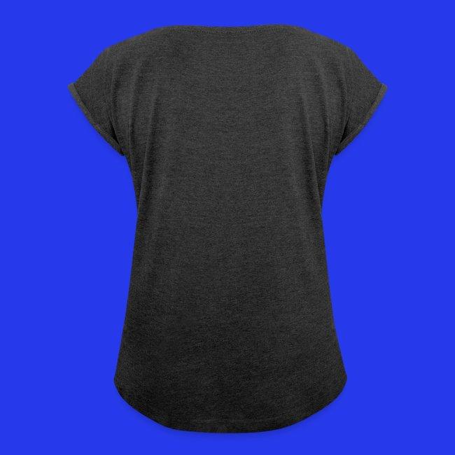 Damen - T-Shirt gerollte Ärmel - Boyfriendstil
