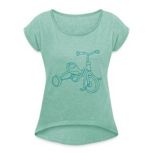 Kinderdreirad - Frauen T-Shirt mit gerollten Ärmeln