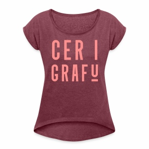 Car I Grafu Women's Boyfriend Style T-Shirt - Women's T-shirt with rolled up sleeves
