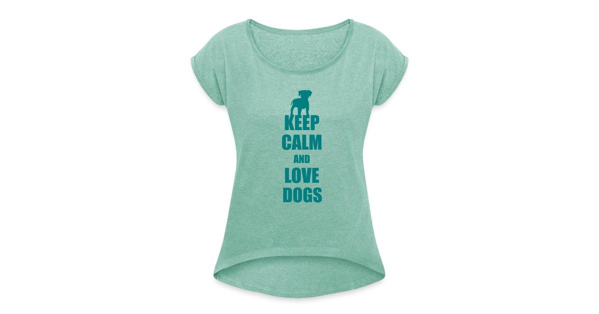 hunde fanshop t shirts und geschenke f r hundefreunde frauen t shirt mit gerollten rmeln. Black Bedroom Furniture Sets. Home Design Ideas