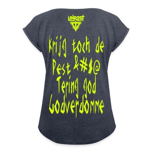 Woman T-Shirt '&#$@' - Vrouwen T-shirt met opgerolde mouwen