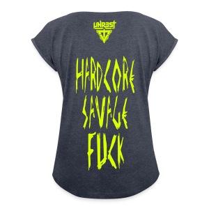 Woman T-Shirt '&#$@' - T-shirt à manches retroussées Femme