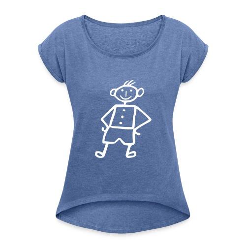 me-girlieme - Frauen T-Shirt mit gerollten Ärmeln