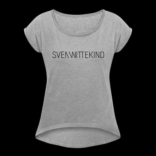 SW Logo T-Shirt - Ladies - Frauen T-Shirt mit gerollten Ärmeln