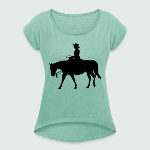 Western.Lady-Bosal - Frauen T-Shirt mit gerollten Ärmeln