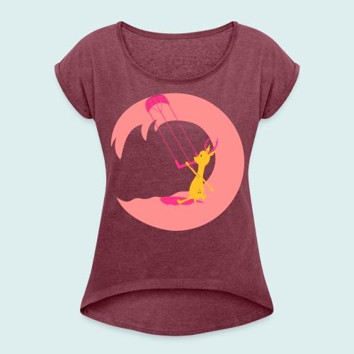 kite deer - Vrouwen T-shirt met opgerolde mouwen