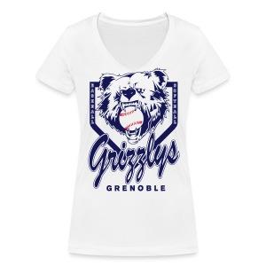 T-SHIRT GIRL DOP GRIZZLYS - T-shirt bio col V Stanley & Stella Femme