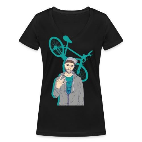 BMX Style - T-shirt bio col V Stanley & Stella Femme