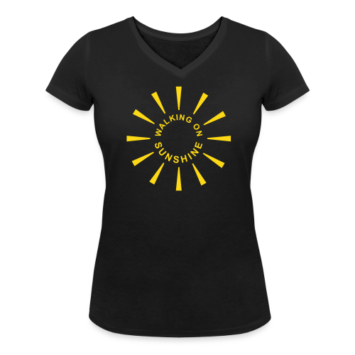 Walking On Sunshine - Frauen Bio-T-Shirt mit V-Ausschnitt von Stanley & Stella