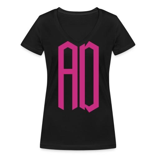 AD Femme NOIR & ROSE - T-shirt bio col V Stanley & Stella Femme