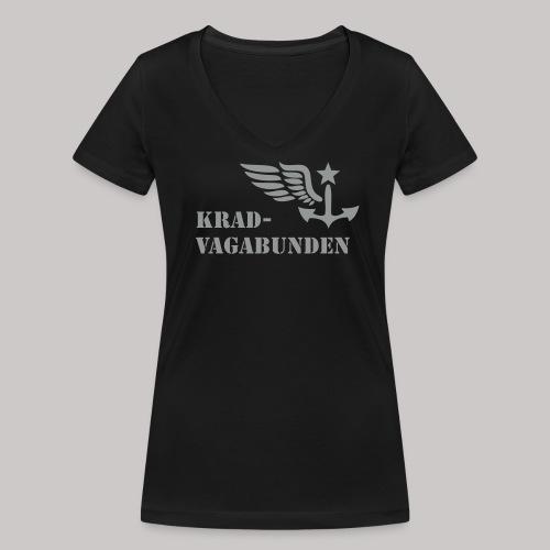 V-Shirt -  Damen - Krad-Vagabunden - grauer Aufdruck - Frauen Bio-T-Shirt mit V-Ausschnitt von Stanley & Stella