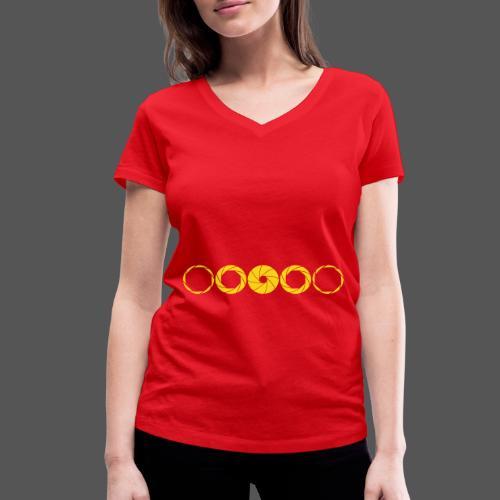 Aperture Range - Front / Belly - Frauen Bio-T-Shirt mit V-Ausschnitt von Stanley & Stella